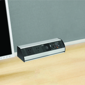 Power Station Desktop Power Solution with USB & Bluetooth Speaker in Silver
