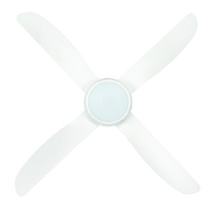 Vector 48'' ABS Ceiling Fan with LED Light in White with White Blades