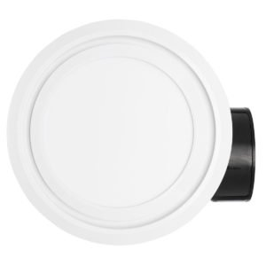 Talon LED 270mm Round Exhaust Fan with LED Light in White