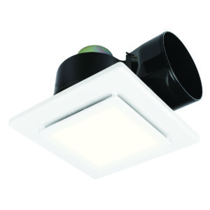 Sarico LED 270mm Square Exhaust Fan with LED Light in White