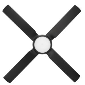Cruze 52'' ABS Ceiling Fan with LED Light in Black with Black Blades
