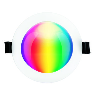 Smart Wifi Prism 10W RGB and CCT Recessed Round Downlight in White