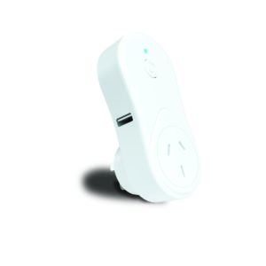 Smart Wifi Wall Plug with USB Charger in White