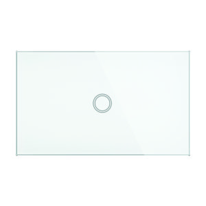 Smart Wifi Elite Glass Wall Switch 1 Gang in White
