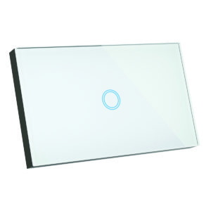 Elite Glass Wall Switch 1 Gang in White