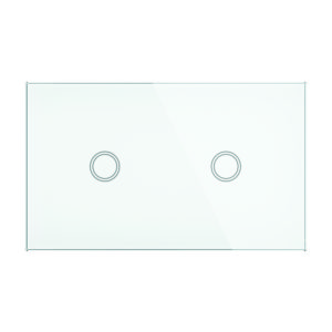 Smart Wifi Elite Glass Wall Switch 2 Gang in White