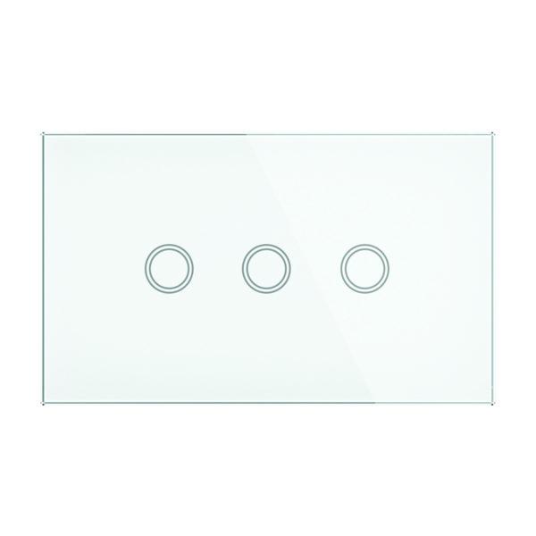 Smart Wifi Elite Glass Wall Switch 3 Gang in White
