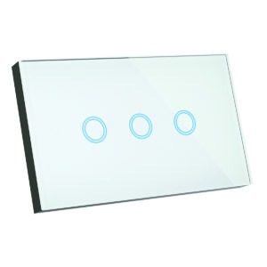 Smart Wifi Elite Glass Wall Switch 3 Gang in White