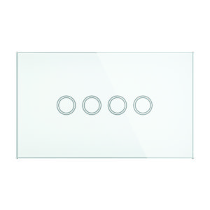 Smart Wifi Elite Glass Wall Switch 4 Gang in White