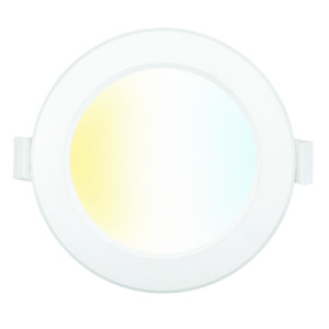 Smart Wifi Trilogy 9W CCT Recessed Round Downlight in White