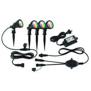 Smart Wifi 4 Pack Botanic RGB Garden Light Kit in Black