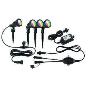 Smart Wifi 4 Pack Botanic RGB Garden Light Kit in Black