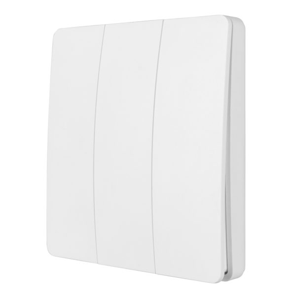 Smart Wifi Kinetic Wall Switch 3 Gang in White