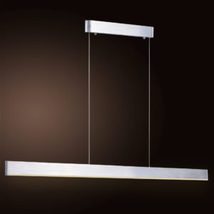 Sword Brushed Chrome LED Pendant 1500mm in Warm White