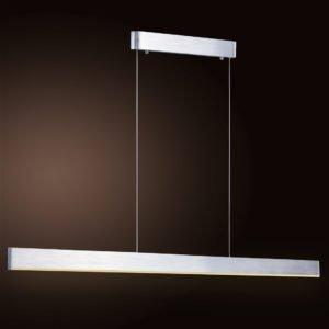 Sword Brushed Chrome LED Pendant 2000mm in Warm White
