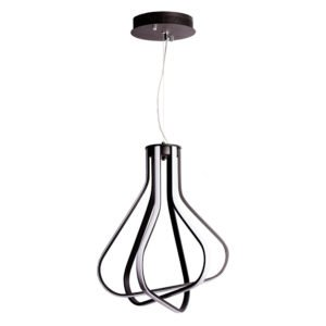 Neutron 62w Warm White LED Pendant Light in Black
