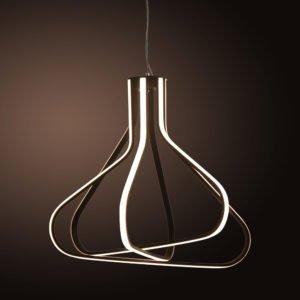Neutron 82w Warm White LED Pendant Light in Black