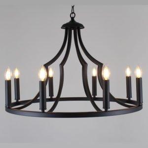 Throne 700mm 8 Light Pendant in Black