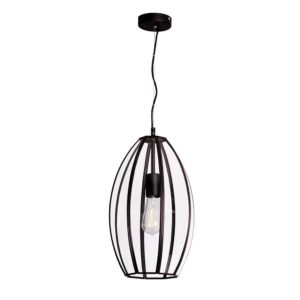 Vegas 240mm 1 Light Pendant in Black