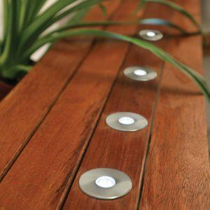 Portsea DIY 50mm 5 Light LED Round Deck Light Kit in 304 Stainless Steel with White Light