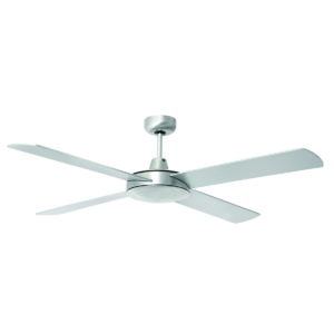 Tempest 52'' Ceiling Fan in Brushed Aluminium with Silver Blades