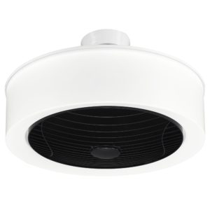Manhattan 570mm Enclosed Ceiling Fan with 4000K 360° Light Diffuser in Black Grille
