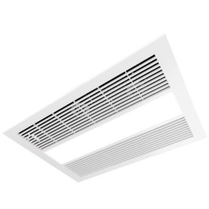 Sahara 3 in 1 Exhaust Fan and Light with Fan Heater in White