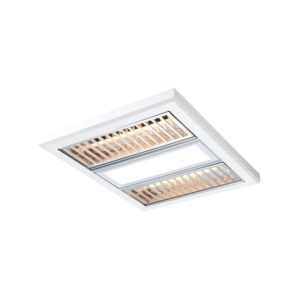 Regent Bathroom 3 in 1 High Powered Exhaust Fan with 12w LED Light and Aluminium Grate