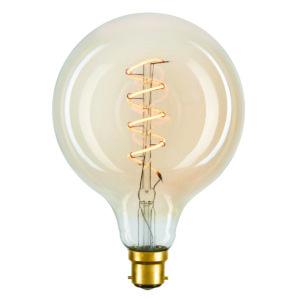 HALO B22 G95 Spiral Flexible Filament LED Globe