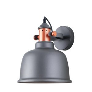Alta Internal Adjustable Wall Light in Grey with Copper Highlights