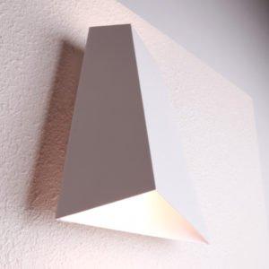 Delhi 12 Watt LED Internal Angled Shaped Up and Down Wall Light in Matt White