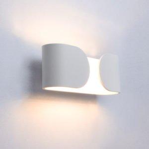 Geneva 10 Watt LED Internal Curved Shaped Wall Light in Matt White