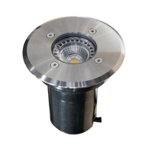IP67 120mm Faceplate GU10 Recessed Round In-Ground Up Light in 316 Stainless Steel