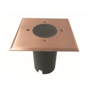 IP67 120mm Face plateMR16 12v Recessed Square In-Ground Up Light in Copper