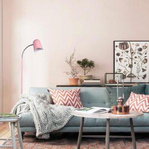 Pastel Floor Lamp in Matt Pink