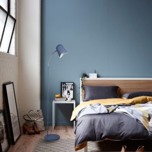 Pastel Floor Lamp in Matt Blue