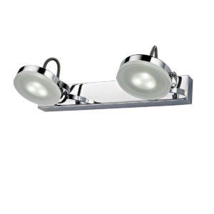 Seattle 2 x 3 Watt LED Internal Adjustable Bar Wall Light in Chrome