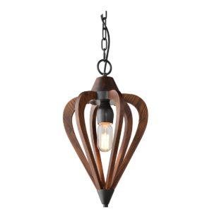 Senorita Small 1 Light Pendant Light in Tuscan Coffee Cherry Wood
