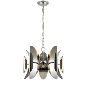 Strato 10 Light Pendant Light in Polished Nickel with Stainless Steel