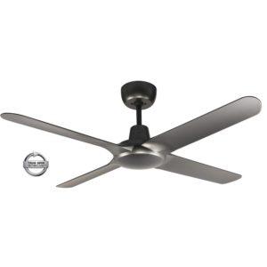"Spyda 4 Blade 50"" (1250mm) Ceiling Fan with Plastic Alloy Blades in Titanium"