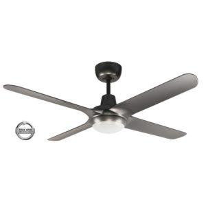 "Spyda 4 Blade 50"" (1250mm) Ceiling Fan with 20 Watt Tri Colour LED Light in Titanium"