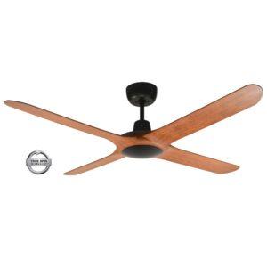 """Spyda 4 Blade 50"""" (1250mm) Ceiling Fan with Plastic Alloy Blades in Teak"""