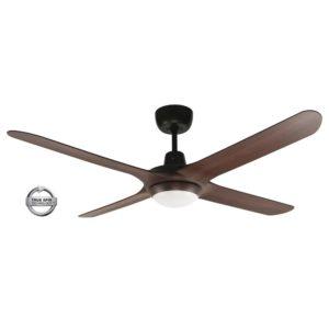 "Spyda 4 Blade 50"" (1250mm) Ceiling Fan with Plastic Alloy Blades in Walnut"