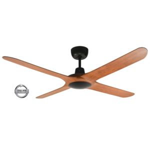 "Spyda 4 Blade 56"" (1420mm) Ceiling Fan with Plastic Alloy Blades in Teak"