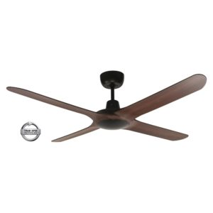 "Spyda 4 Blade 56"" (1420mm) Ceiling Fan with Plastic Alloy Blades in Walnut"