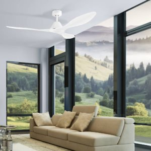 White Eglo Nevis 52 inch DC Ceiling Fan - 202748
