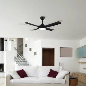 Eglo Bondi 48inch Black Ceiling Fan with LED Light - 203623