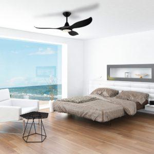 Black Eglo Noosa 52 inch DC Ceiling Fan with Light - 202969