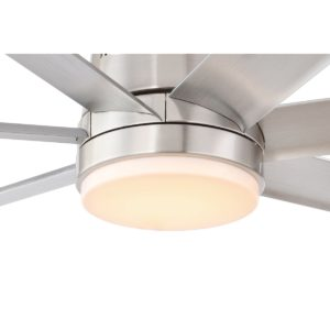 Silver Eglo Tourbillion DC Ceiling Fan Light Kit - 202967