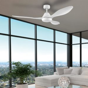 White Eglo Nevis 52 inch DC Ceiling Fan with LED Light - 202751